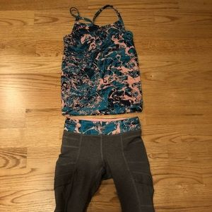 Girls Ivivva tank top and Capri leggings